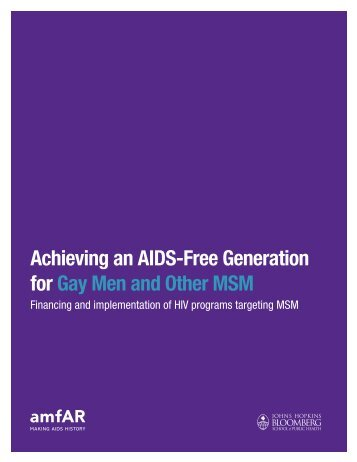 Achieving an AIDS-Free Generation for Gay Men and Other ... - amfAR