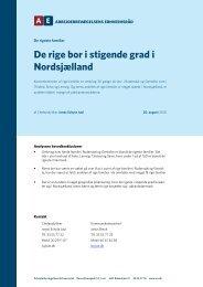 De rige bor i stigende grad i Nordsjælland - Arbejderbevægelsens ...