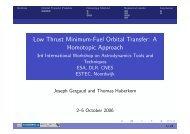 Low Thrust Minimum-Fuel Orbital Transfer: A Homotopic ... - ESA