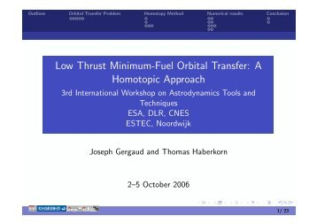 Low Thrust Minimum-Fuel Orbital Transfer: A Homotopic ... - ESA