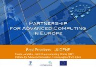 Best Practices – JUGENE - Prace Training Portal