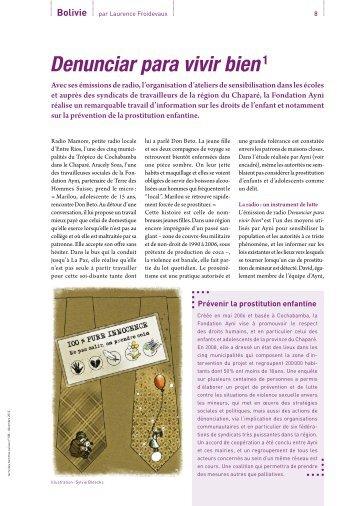 Journal TdH n°108, p. 8 et 9 - Terre des Hommes Suisse