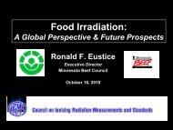 Food Irradiation: A Global Perspective and Future Prospects - CIRMS