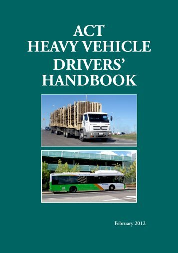ACT Heavy Vehicle Drivers Handbook - Rego ACT - ACT Government