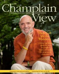 Download the Fall 2008 print edition - Champlain College