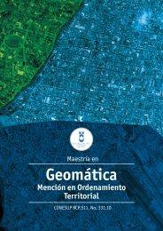 Geomática Mención en Ordenamiento Territorial - Universidad del ...