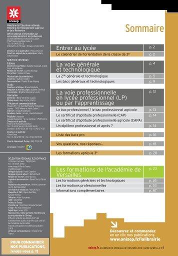 Les formations générales et technologiques - Collège Montesquieu