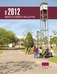 new student checklist - Texas Southern University: ::em.tsu.edu
