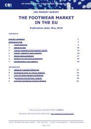 THE FOOTWEAR MARKET IN THE EU - CBI