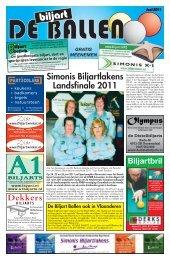 Simonis Biljartlakens Landsfinale 2011 - De Biljart Ballen