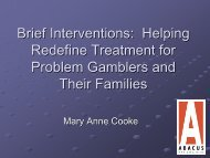 Helping Redefine Treatment for Problem Gamblers and Their Families