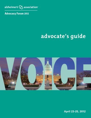 Alzheimer's Association Advocates Guide