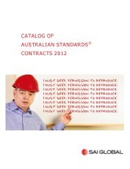catalog of australian standards® contracts 2012 - SAI Global