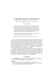An Algorithmic Approach to Chain Recurrence - CiteSeerX