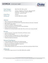 georgia state fact sheet - Drake Software