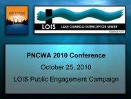 Lake Oswego Interceptor Sewer Public - pncwa