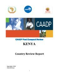 Technical Review Document - CAADP