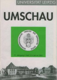 Umschau Heft 12 - Freundeskreis - Universität Leipzig