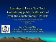 Kevin Cranston, Massachusetts Department of ... - The AIDS Institute