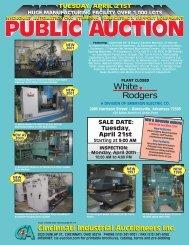 tuesday, april 21st - Cincinnati Industrial Auctioneers, Inc.