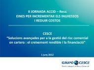solucions avançades per a la gestio del risc de credit en ... - accid