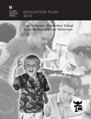 EDUCATION PLAN 2010 Leo Nickerson Elementary School Ecole ...