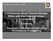 A Preliminary Study Thermal Storage Effect with Heat Island in ...