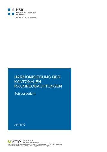 Schlussbericht - IRAP - Hochschule für Technik Rapperswil