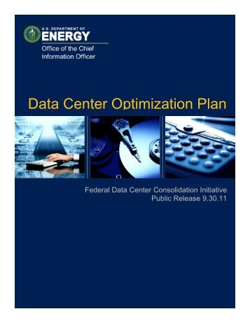 Data Center Optimization Plan - U.S. Department of Energy
