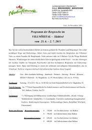 Südtirol vom 25. 6. – 2. 7. 2011 - Naturfreunde