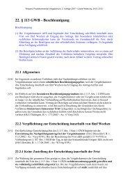 22. § 113 GWB - Beschleunigung - Oeffentliche Auftraege