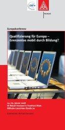 Qualifizierung für Europa – Grenzenlos mobil durch ... - EMF-FEM