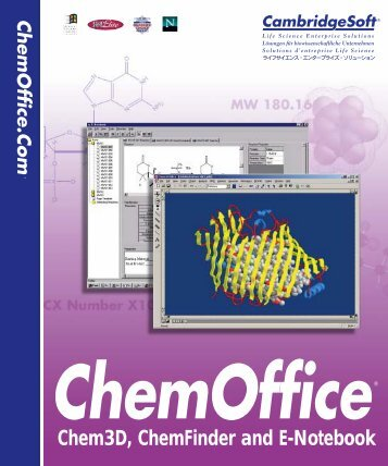 Chem3D 8.0 Manual - CambridgeSoft