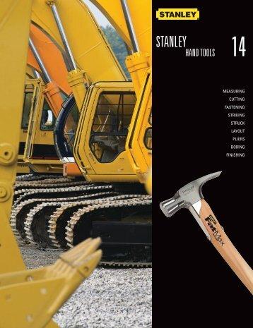 Stanley Proto Industrial Catalog - Stanley Hand Tools - Eoss.com