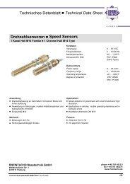 Technisches Datenblatt Technical Data Sheet Drehzahlsensoren ...