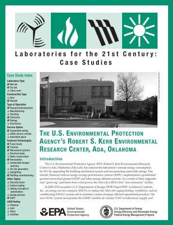 The U.S. Environmental Protection Agency's Robert S. Kerr ...