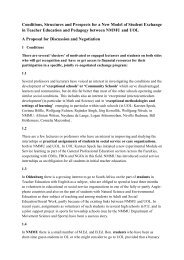 Conditions, Structures and Prospects for a New Model of Student ...