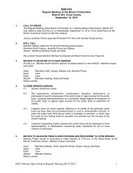 BOE Minutes Open Session Regular Meeting 09/12/2012 1