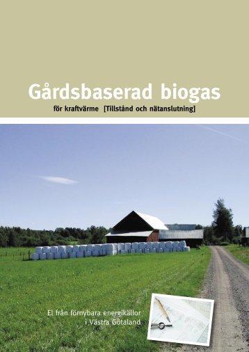 GÃ¥rdsbaserad biogas - RES-e-Regions