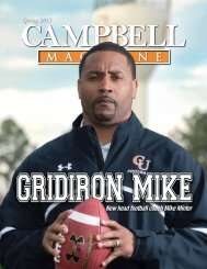 Download a pdf of the Spring 2013 issue - Campbell University
