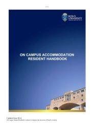 On Campus Student Handbook - Bond University