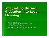 Integrating Hazard Mitigation into Local Planning - American ...