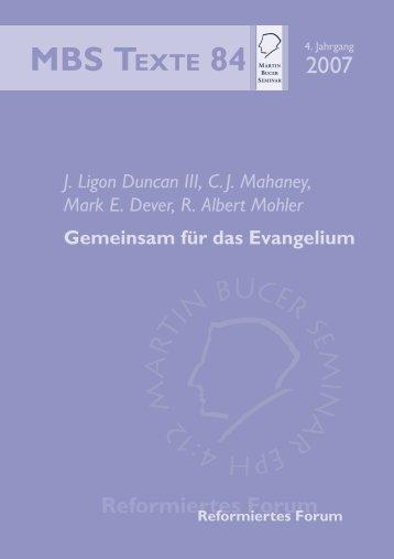 Gemeinsam für das Evangelium - Martin Bucer Seminar