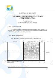 fornitura di materiale sanitario per emodinamica - ASL n.3 Genovese