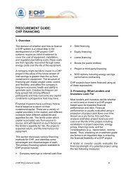 procurement guide: chp financing - US Environmental Protection ...
