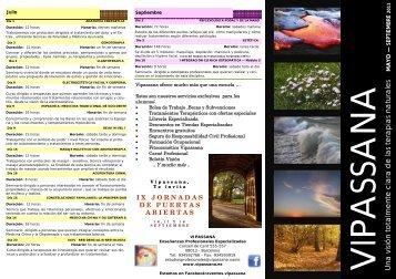 FOLLETO MAYO - SEPTIEMBRE 11 - Vipassana