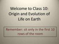 Welcome to Class 10: Origin and Evolution of Life on Earth - Physics
