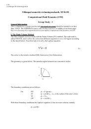 Numerical Simulation of Turbulent Reacting ... - Strömningsteknik