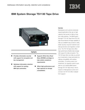IBM® Total Storage 3584 Ultrascalable Tape Library