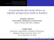La percepción del acento léxico en español ... - Grup de Fonètica